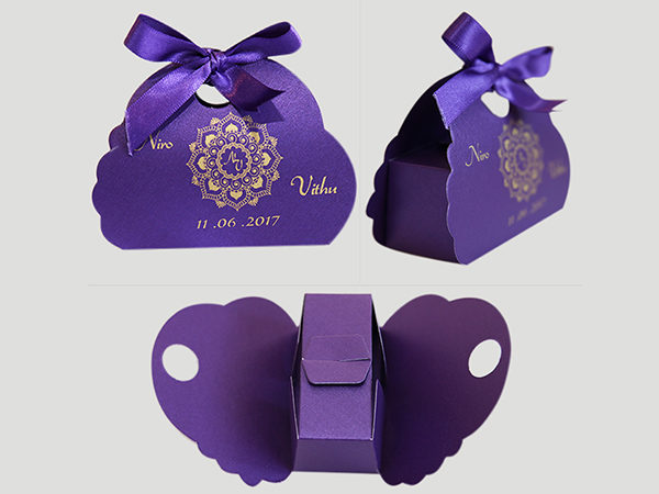 Butterfly Cake box -purple Color
