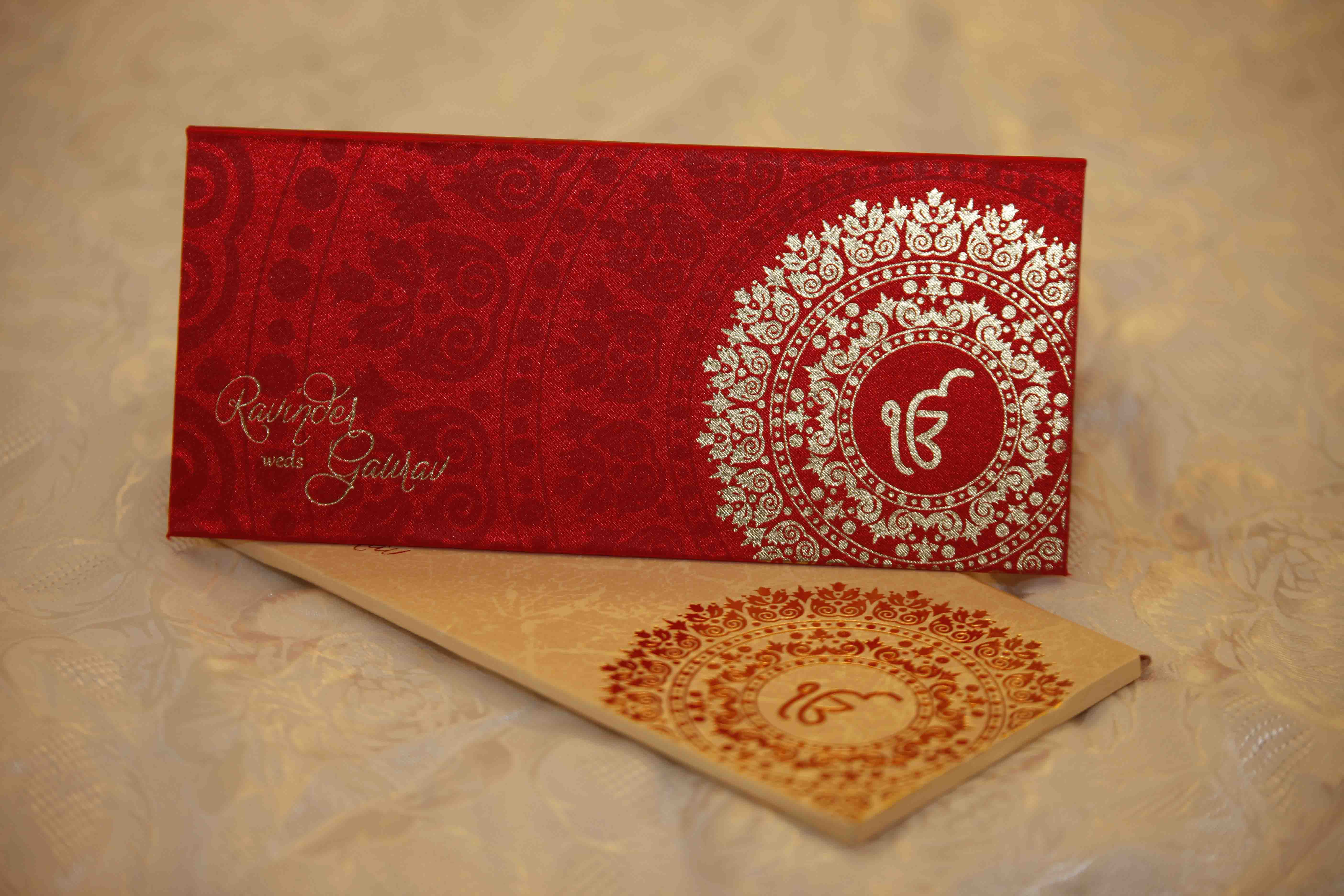 Silk Supreme Invitations with foil logo gives a neat and brilliant ...