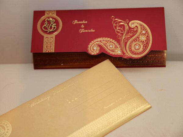 Hindu wedding Cards Red-04