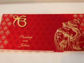 Satin Sikh Wedding Invitation