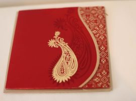Hindu wedding Cards Red_Frount
