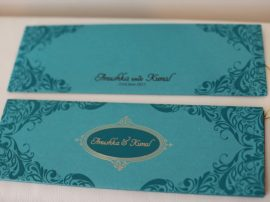 Hindu wedding Cards Green_02