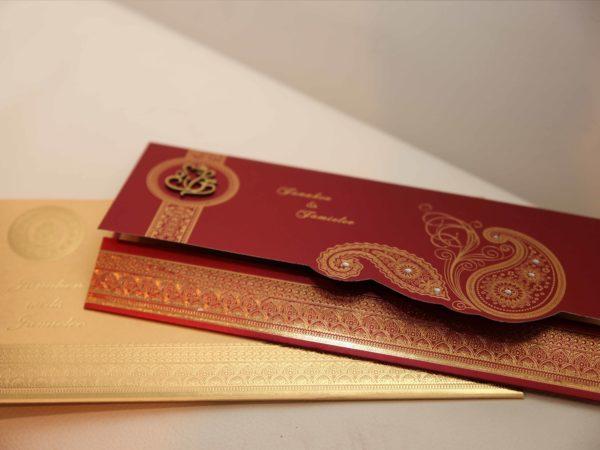 Hindu wedding Cards Red-03