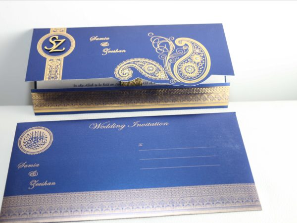 Muslim wedding Cards Blue_04