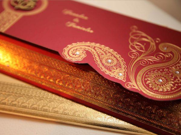 Hindu wedding Cards Red-02