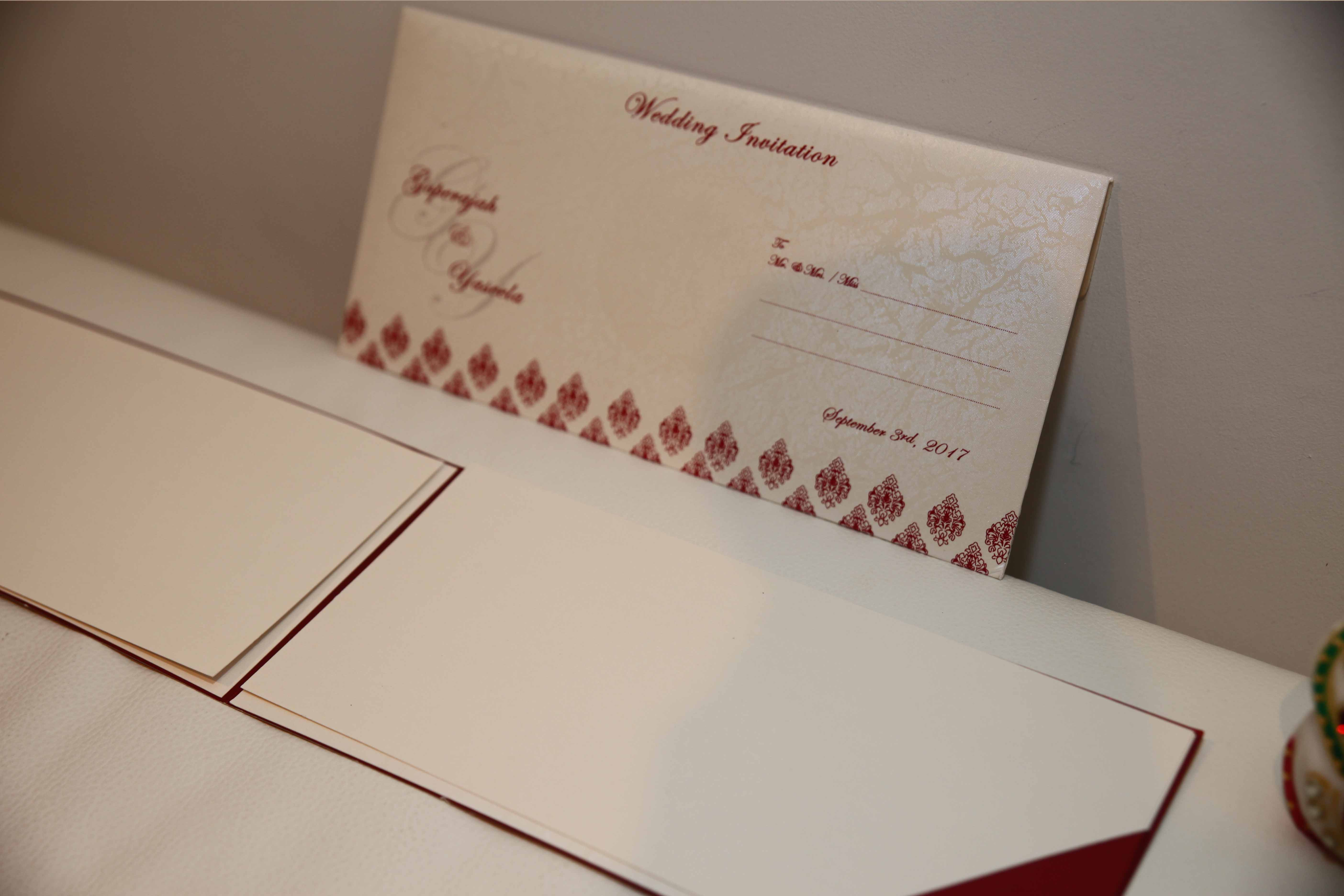 how to mail scroll wedding invitations%0A Satin sikh wedding invitation is made out of rich satin cloth material  satin sikh wedding invitation