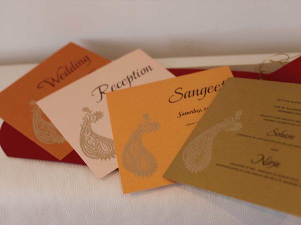 Hindu wedding Cards Red_Inserts