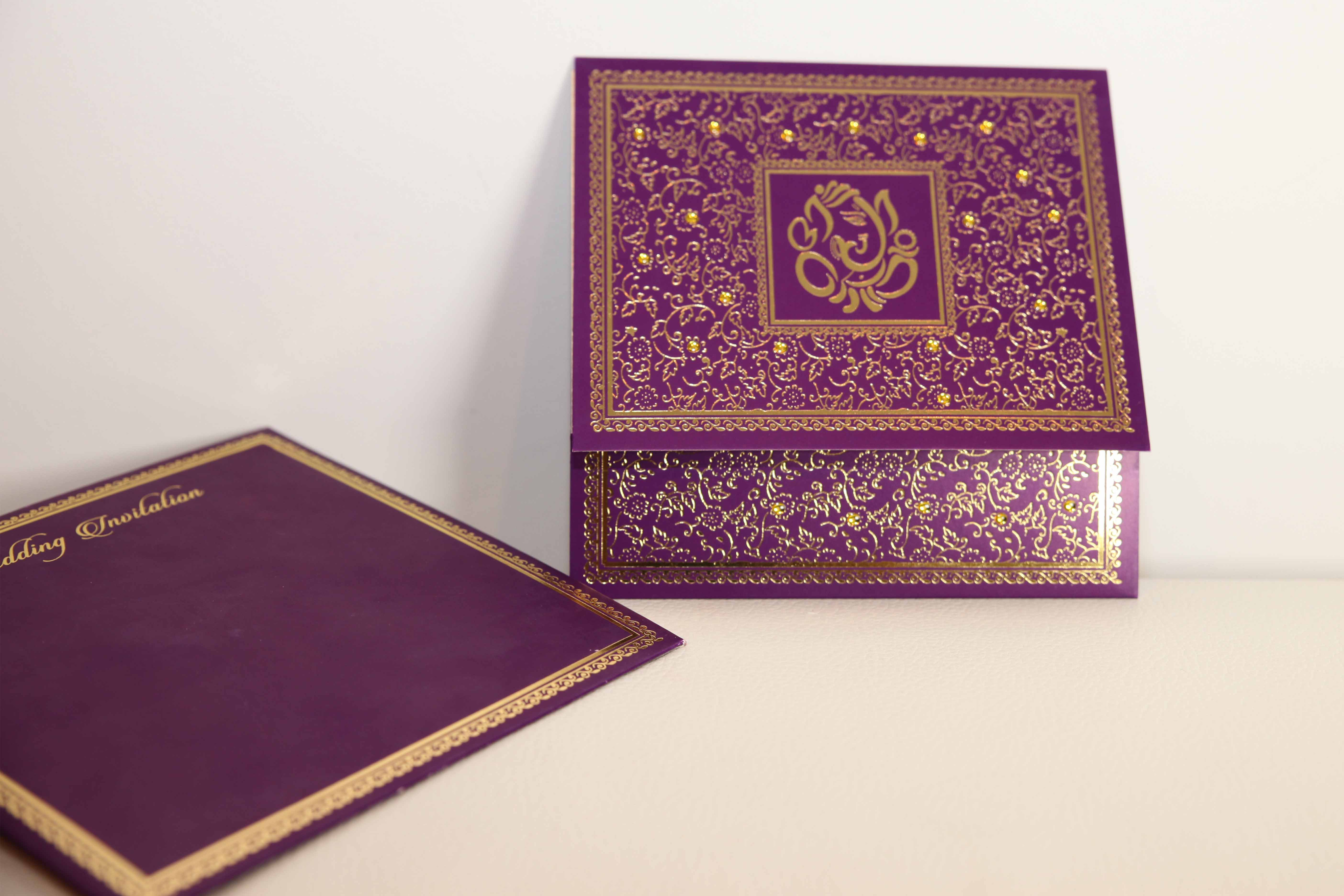 Purple Indian Wedding Invitations: Hindu Wedding Cards Is A Well Known Brand In The UK