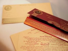 Hindu wedding Cards Red