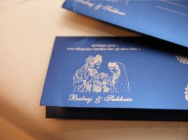 Hindu sikh wedding Invitations