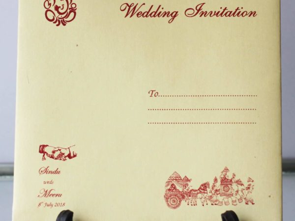 Hindu Wedding Card Invitation Red Nila Cards